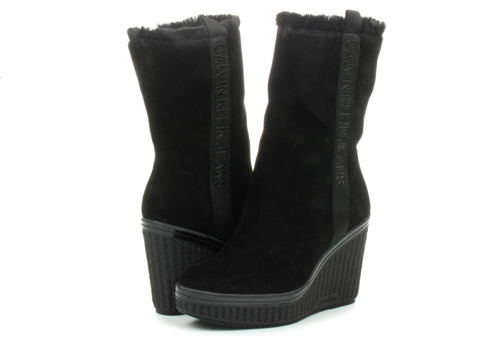 90cccf9a2f Calvin Klein Jeans Csizma - Shuana - RE9767-BLK - Office Shoes ...