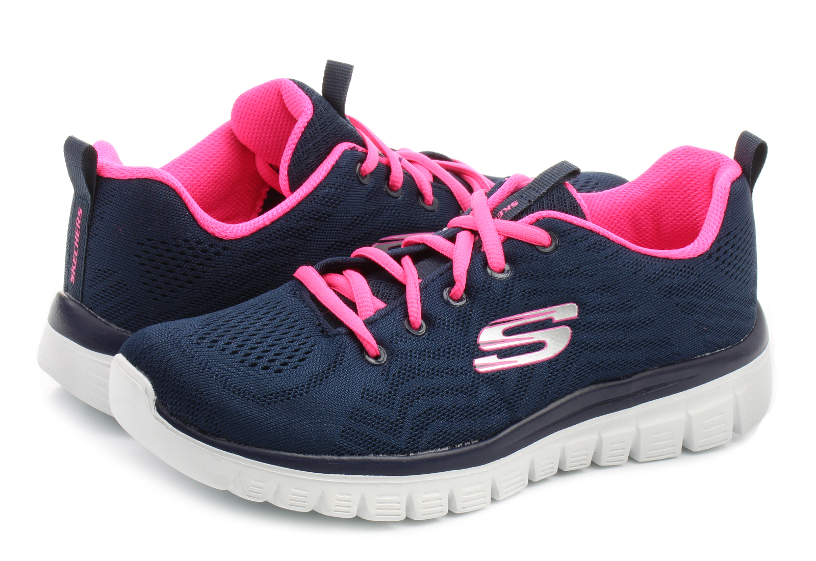 d4d765ce1cbac Skechers Półbuty - Graceful - Get Connected - 12615-nvhp - Obuwie i ...