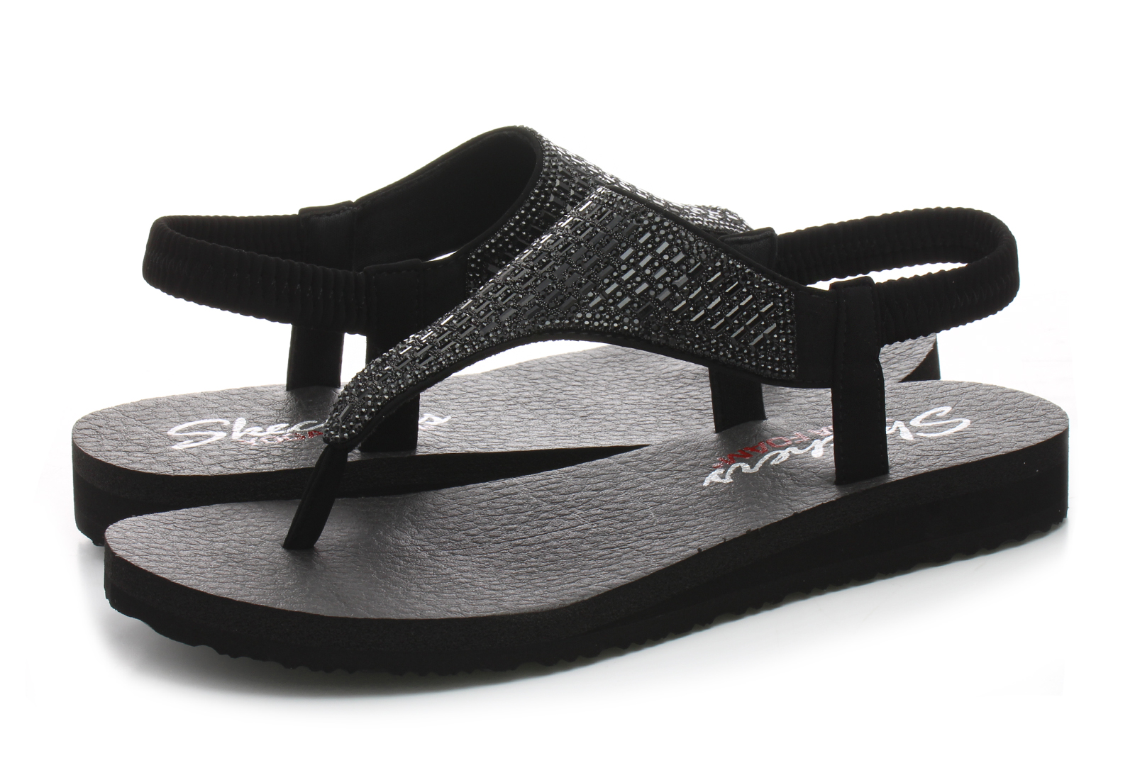 7b11cfbede1 Skechers Sandals - Meditation - Rock Crown - 31560-bbk - Online ...
