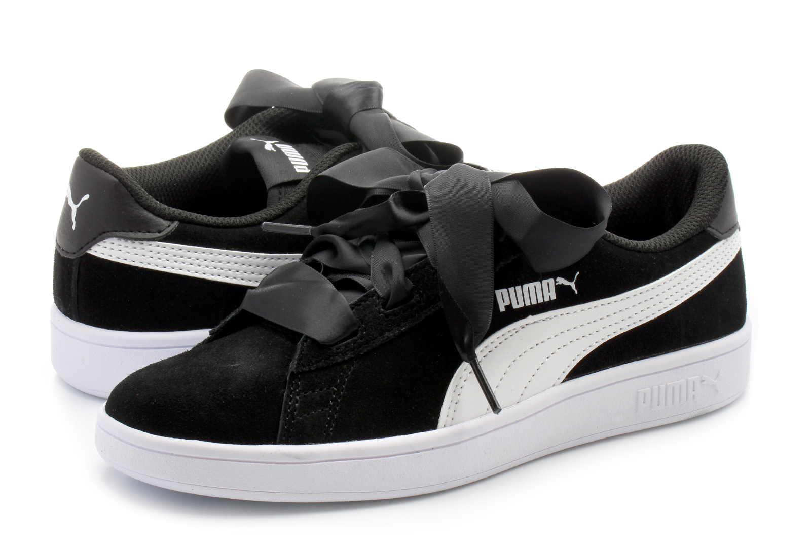 Puma Shoes - Smash V2 Ribbon Jr - 36600301-blk - Online shop for ... 9c024e3af