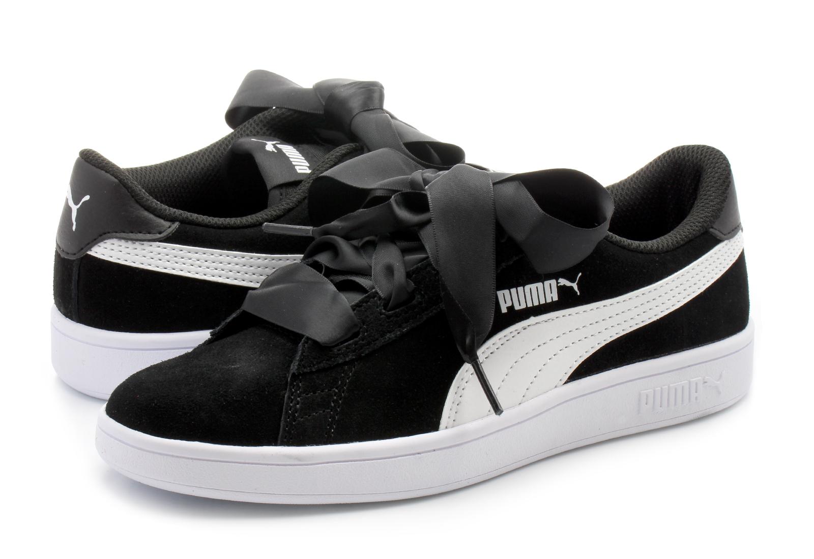 Puma Topánky - Smash V2 Ribbon Jr - 36600301-blk - Tenisky ... 3cce37651af