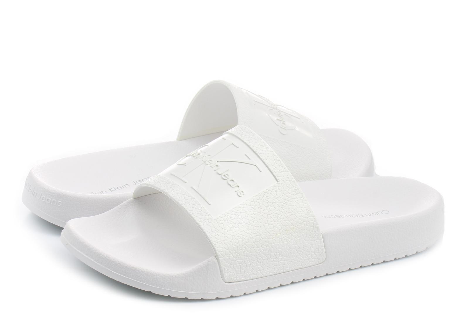 de184dee8 Calvin Klein Jeans Slippers - Christie - R8837-WHT - Online shop for ...