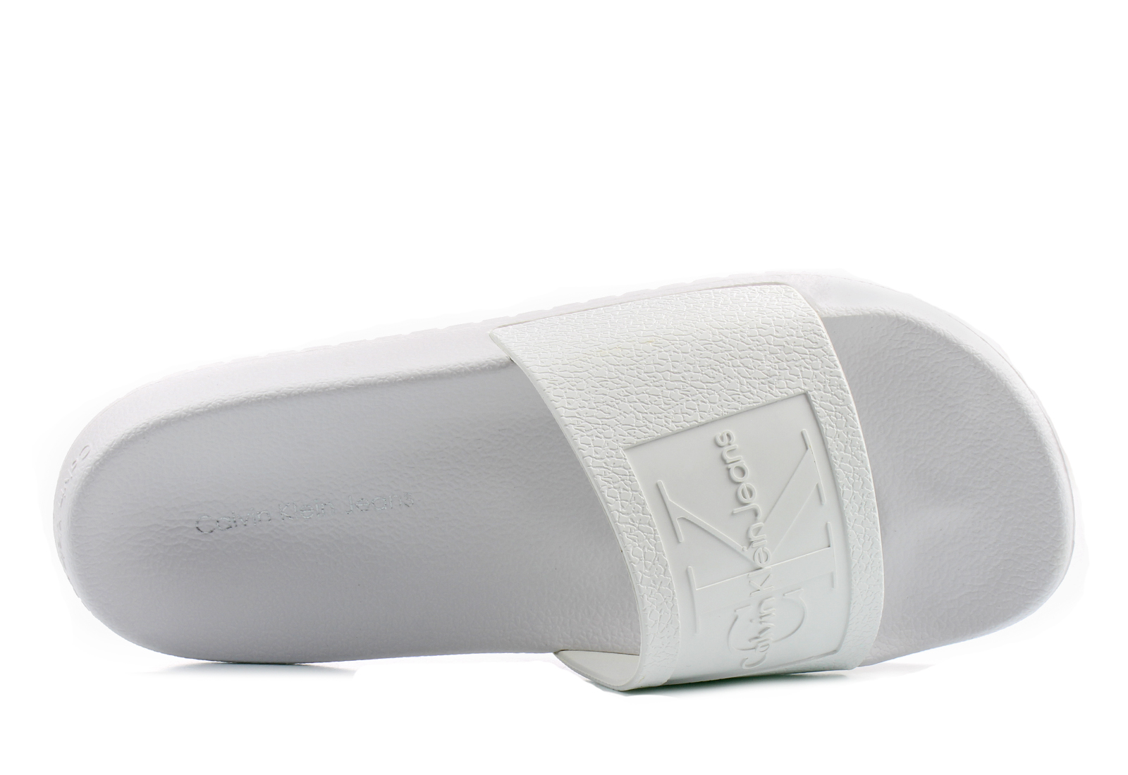 2d197a0b86 Calvin Klein Jeans Gumene Bela Papuče - Christie - Office Shoes Srbija