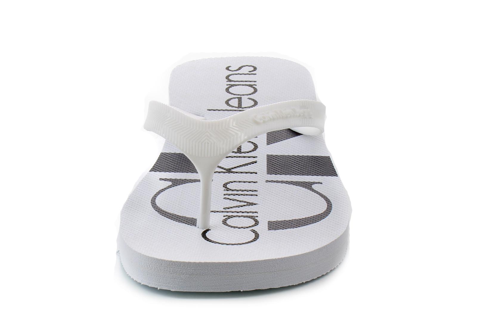 Calvin Klein Jeans Slippers - Dash - S0063-WHT - Online shop for ... b9e9ffe133