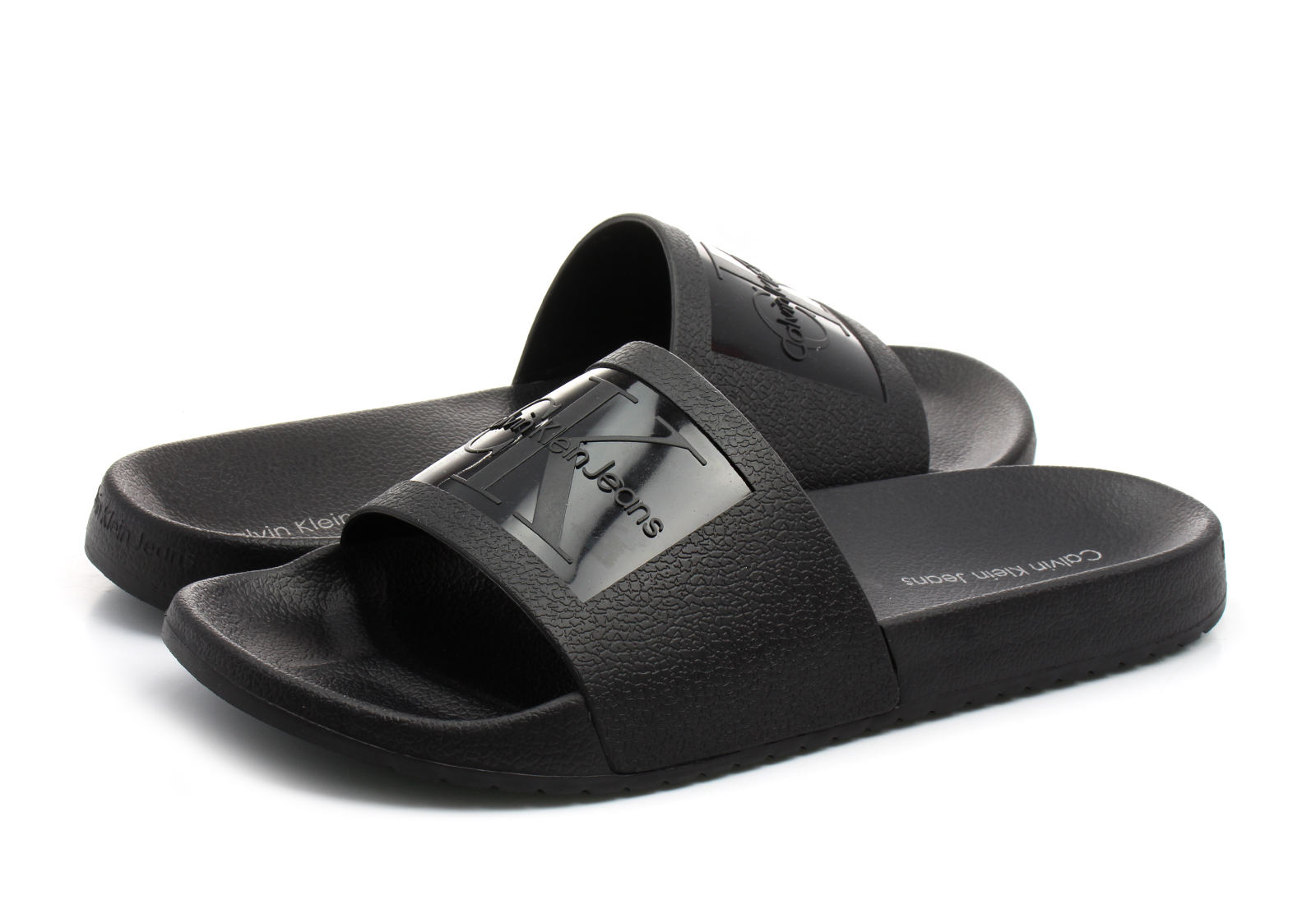 calvin klein jeans slippers vincenzo s0547 blk. Black Bedroom Furniture Sets. Home Design Ideas