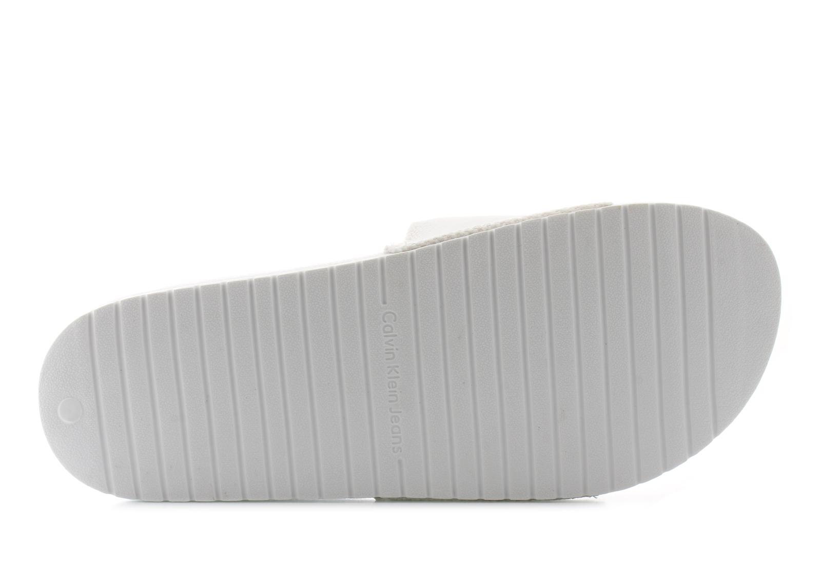Calvin Klein Jeans Slippers - Viggo - SE8535-WHT - Online shop for ... 0e35db99df