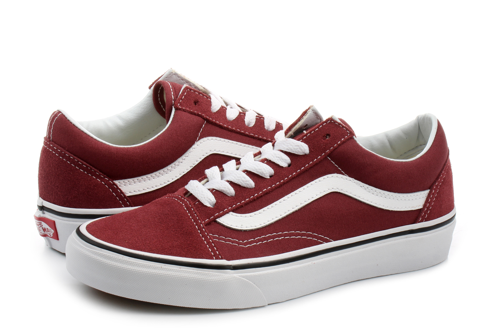 vans bordowe damskie old skool