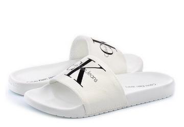 f3b3563ed2 Calvin Klein Jeans Slippers - Viggo - SE8535-WHT - Online shop for ...