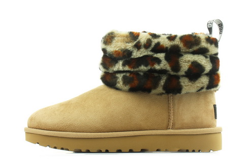 Ugg Cizme Fluff Mini Quilted Leopard