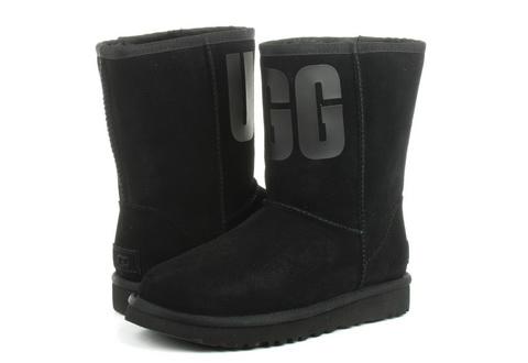 Ugg Boots Classic Short Ugg Rubber Logo