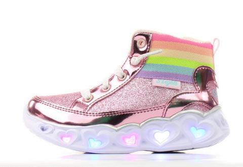 Skechers Nízké Boty Heart Lights - Rainbow Diva