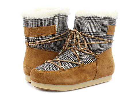 Moon Boot Wysokie Buty Mb Far Side Low Fur/tartan