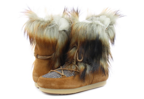 Moon Boot Škornji Mb Far Side High Faux Fox Fur