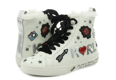 Karl Lagerfeld Shoes Skool Jewel Badge Hi