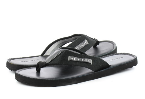 Tommy Hilfiger Slapi Elevated Leather Beach Sandal Black