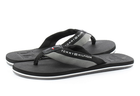 Tommy Hilfiger Pantofle Embossed Th Beach Sandal Black