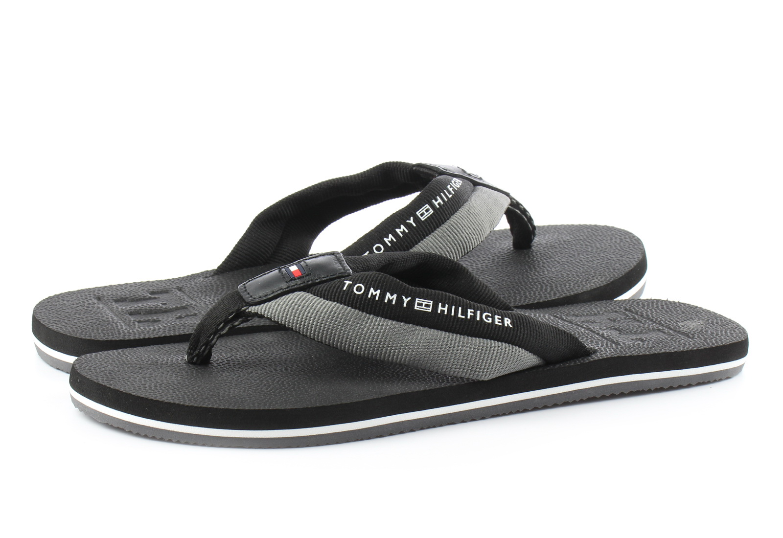 Tommy Hilfiger Papucs Embossed Th Beach Sandal Black
