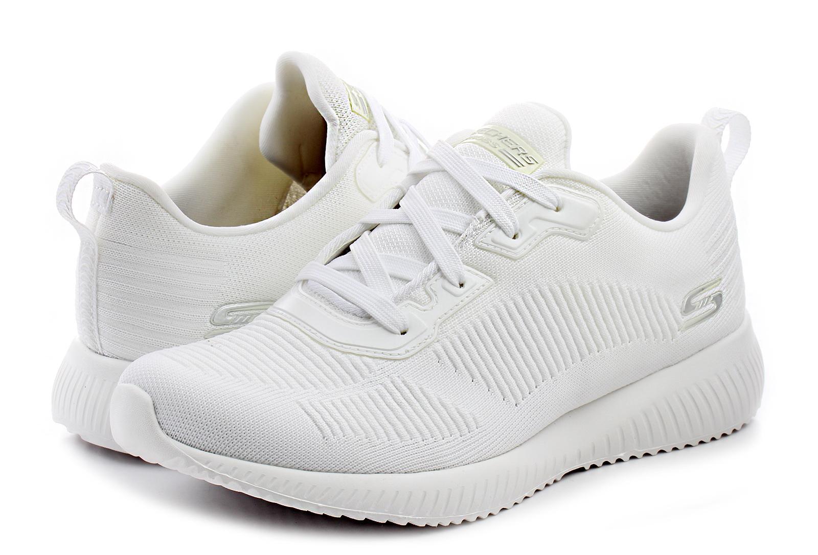 Białe buty męskie Skechers, kolekcja lato 2019