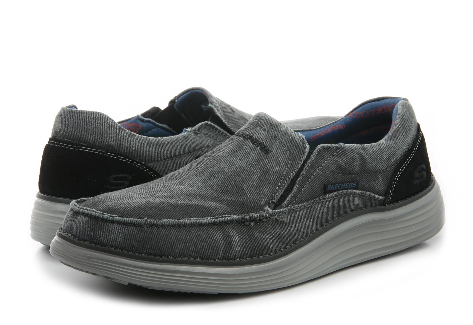 Skechers Slip-on Cipele Crne Cipele - Status 2.0 - Mosent - Office Shoes -  Online trgovina obuće 6c112644234