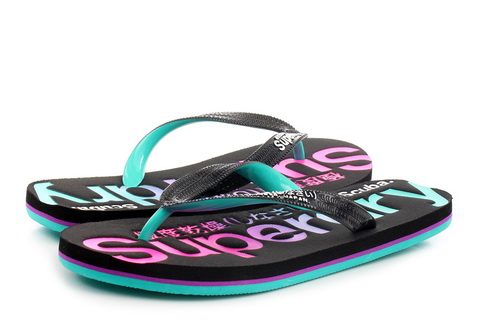 Superdry Slippers Scuba Faded Logo Flip Flop