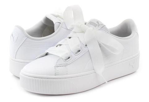 4f5e369c77ad Puma Cipő - Vikky Stacked Ribbon Core - 36911202-wht - Office Shoes ...