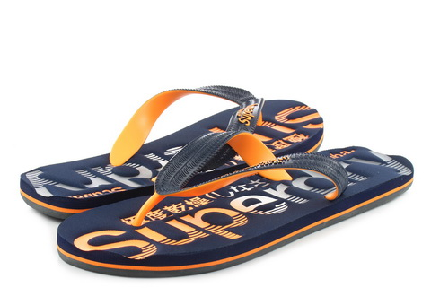 check out afa61 de847 Superdry Slippers - Scuba Faded Logo Flip Flop - MF3105ET-W2X - Online shop  for sneakers, shoes and boots