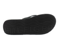 Tommy Hilfiger Papucs Elevated Leather Beach Sandal Black 1