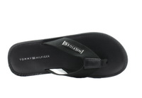 Tommy Hilfiger Papucs Elevated Leather Beach Sandal Black 2