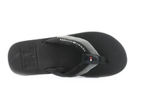 Tommy Hilfiger Papucs Embossed Th Beach Sandal Black 2