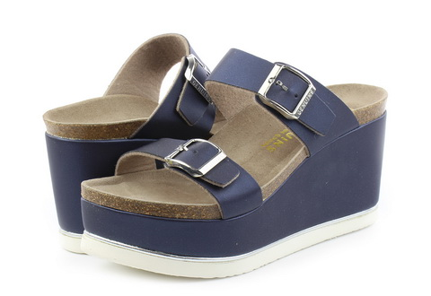 Genuins Sandale Vicenza En Raso Blue Navy