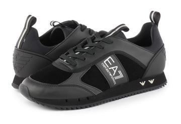 Ea7 Emporio Armani Nízké Boty Black & White Sneaker