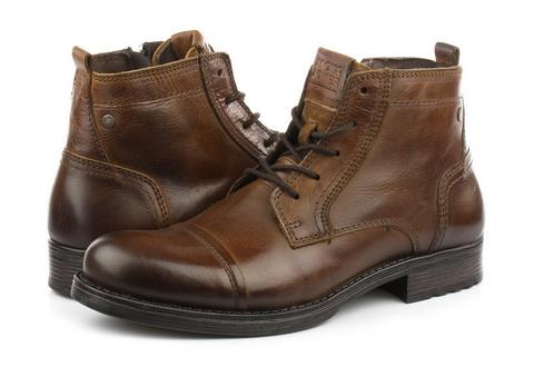Jack And Jones Duboke Cipele Jfwrussel Mid Leather Cognac