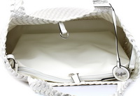 Buffalo Kabelky White Bag Knitted 2